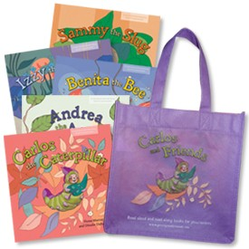 Books with book bag